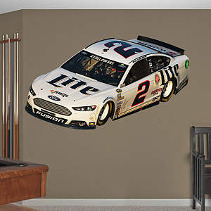 Brad Keselowski #2 Miller Lite Car Fathead Wall Decal